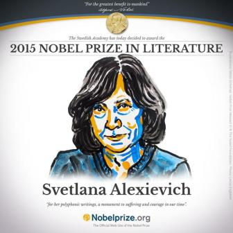 BELARUSIAN WRITER, SVETLANA ALEXIEVICH, WINS NOBEL PRIZE FOR LITERATURE 2015