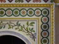 Robert Adam fireplace in Round Room - detail